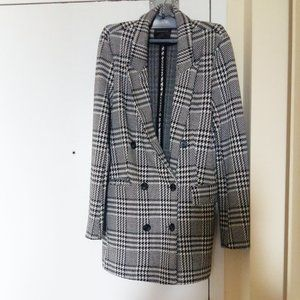 Houndstooth peacoat in size small